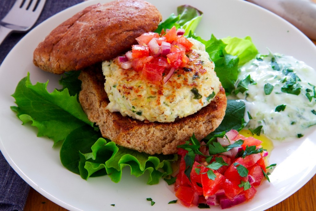 Chicken Burger with Tzatziki-1024x682