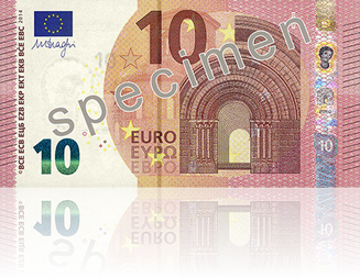New Europa Series 10 Euro Note Front