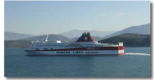 Minoan Lines Ferry off the coast of Crete